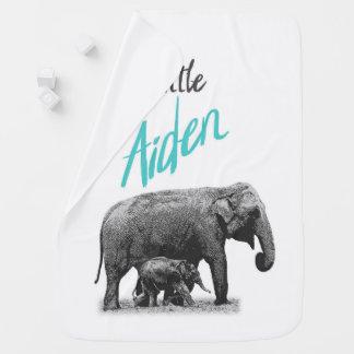 "Personalized Baby Boy Blanket ""Little Aiden"""