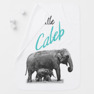 "Personalized Baby Boy Blanket ""Little Caleb"""