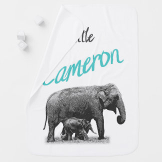 "Personalized Baby Boy Blanket ""Little Cameron"""