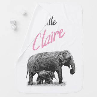 """Personalized Baby Boy Blanket """"Little Claire"""""""