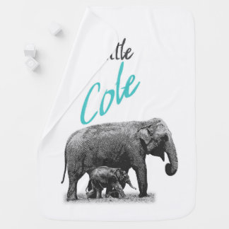 """Personalized Baby Boy Blanket """"Little Cole"""""""