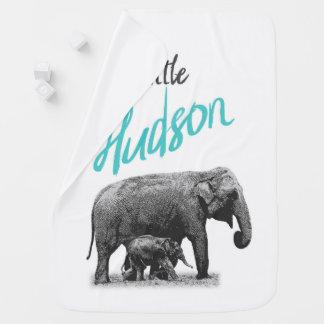 "Personalized Baby Boy Blanket ""Little Hudson"""
