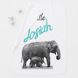 "Personalized Baby Boy Blanket ""Little Josiah"""