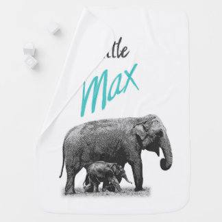"Personalized Baby Boy Blanket ""Little Max"""