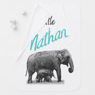 """Personalized Baby Boy Blanket """"Little Nathan"""""""