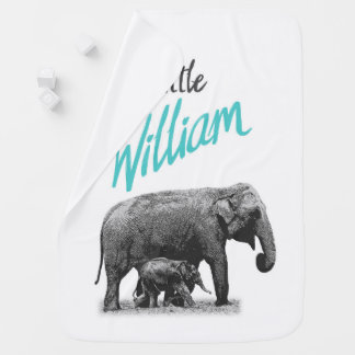 """Personalized Baby Boy Blanket """"Little William"""""""