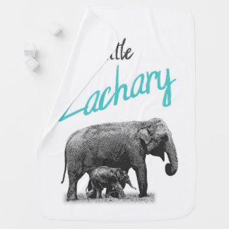 "Personalized Baby Boy Blanket ""Little Zachary"""