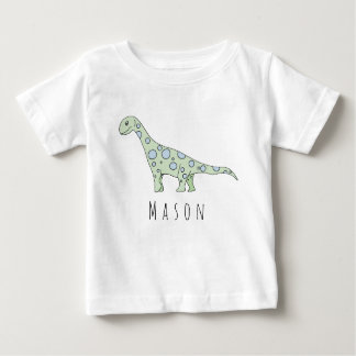 Personalized Baby Boy Doodle Dinosaur with Name Baby T-Shirt
