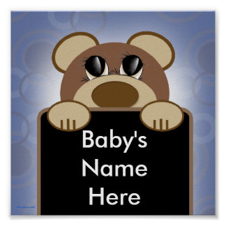 Personalized Baby Boy Room Poster