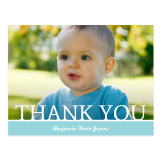 Personalized Baby Boy Thank You Card - 4.25 x 5.6 Post Cards