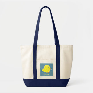 Personalized Baby Chick Tote Bag