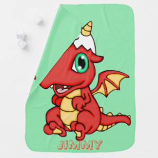 Personalized Baby Dragon Baby Blanket