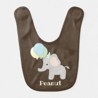 Personalized Baby Elephant Bib