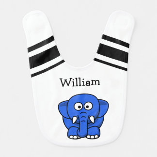 Personalized Baby Elephant Bib