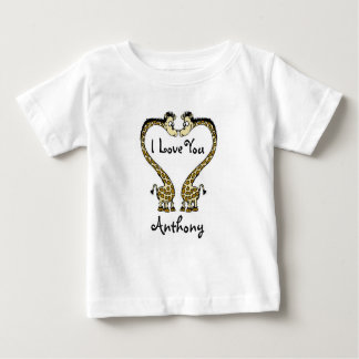 Personalized Baby Fine Jersey T-Shirt/Giraffes Baby T-Shirt