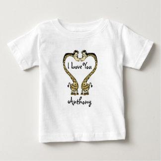 Personalized Baby Fine Jersey T-Shirt/Giraffes Tee Shirt