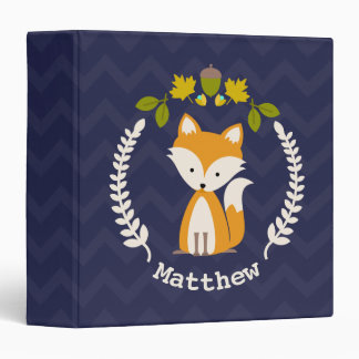 Personalized Baby Fox Binder