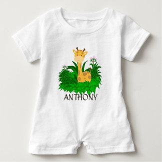 PERSONALIZED BABY GIRAFFE BABY BODYSUIT