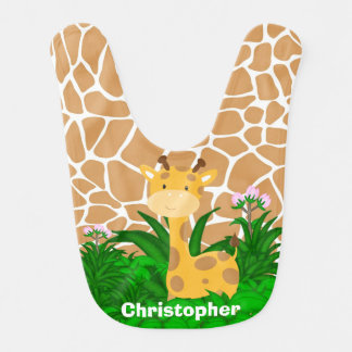 Personalized Baby Giraffe Bib