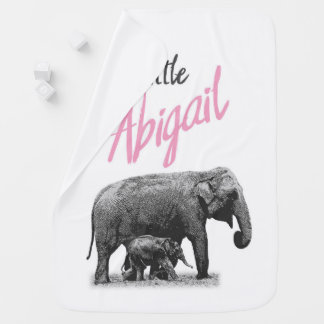 "Personalized Baby Girl Blanket ""Little Abigail"""