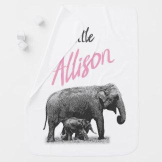 "Personalized Baby Girl Blanket ""Little Allison"""