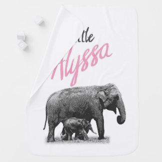 "Personalized Baby Girl Blanket ""Little Alyssa"""