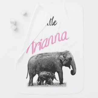 """Personalized Baby Girl Blanket """"Little Arianna"""""""