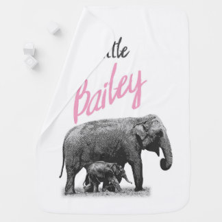 "Personalized Baby Girl Blanket ""Little Bailey"""