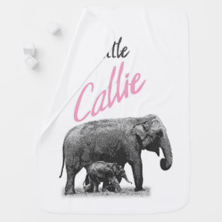 """Personalized Baby Girl Blanket """"Little Callie"""""""