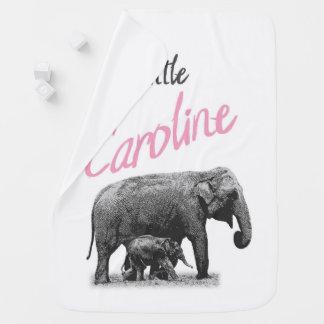 "Personalized Baby Girl Blanket ""Little Caroline"""