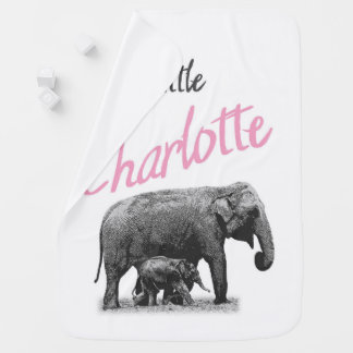 "Personalized Baby Girl Blanket ""Little Charlotte"""