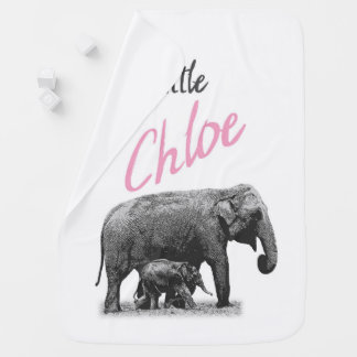 "Personalized Baby Girl Blanket ""Little Chloe"""