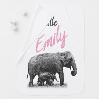 """Personalized Baby Girl Blanket """"Little Emily"""""""