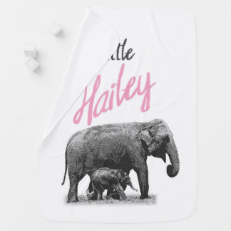 """Personalized Baby Girl Blanket """"Little Hailey"""""""