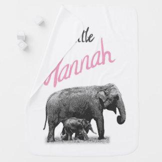 "Personalized Baby Girl Blanket ""Little Hannah"""