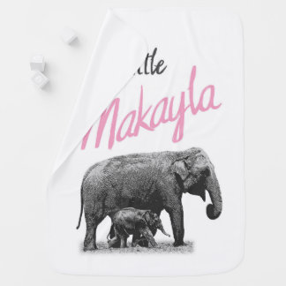 """Personalized Baby Girl Blanket """"Little Makayla"""""""