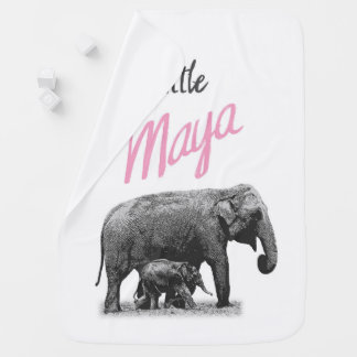"Personalized Baby Girl Blanket ""Little Maya"""