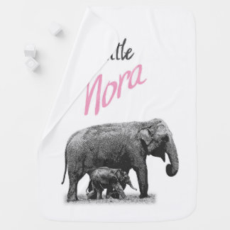 "Personalized Baby Girl Blanket ""Little Nora"""