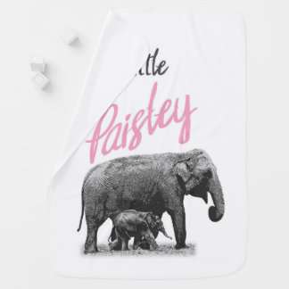 "Personalized Baby Girl Blanket ""Little Paisley"""