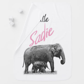 "Personalized Baby Girl Blanket ""Little Sadie"""