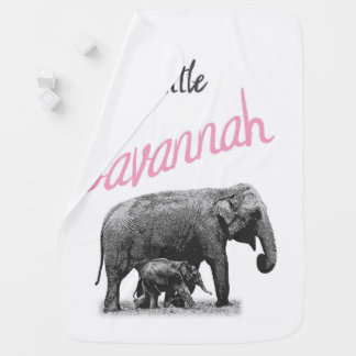 "Personalized Baby Girl Blanket ""Little Savannah"""