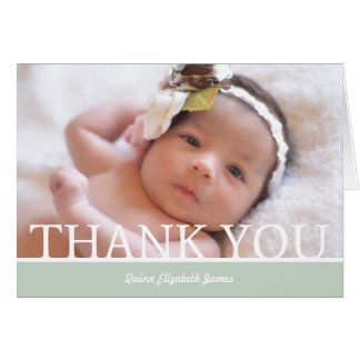 "Personalized Baby Girl Thank You Card - 5"" x 7"""