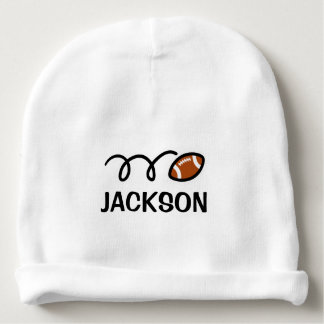Personalized baby hat with cute football design baby beanie