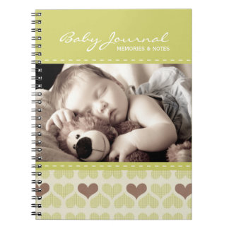 Personalized Baby Journal Spiral Notebook