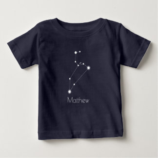 Personalized Baby Leo Zodiac Constellation Baby T-Shirt