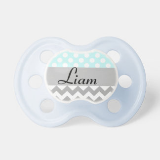 Personalized baby pacifier in blue