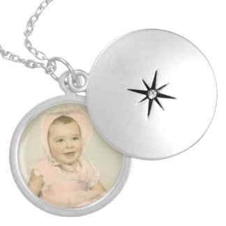 Personalized Baby Photo Silver Plated Necklace