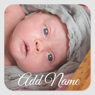 Personalized Baby Photo Stickers