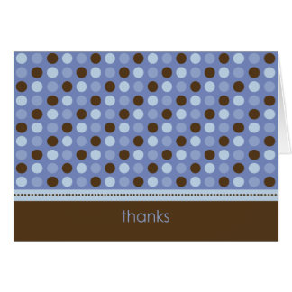 Personalized Baby Polka Dot Thank You Card