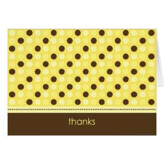 Personalized Baby Polka Dot Thank You Card (lemon)